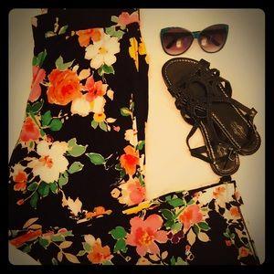 Ralph Lauren 1X Floral Viscoe Pants